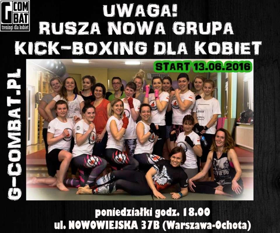 grupa początkująca kickboxing, sztuki walki dla kobiet warszawa centrum